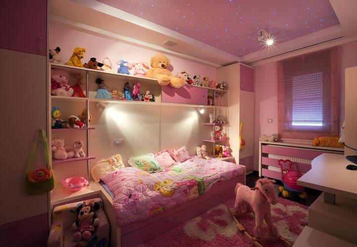 Натяжной потолок звездное небо в детской комнате