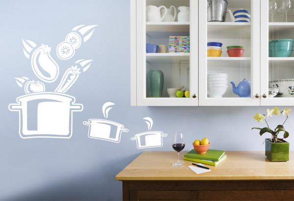 Украшаем стены кухни своими руками