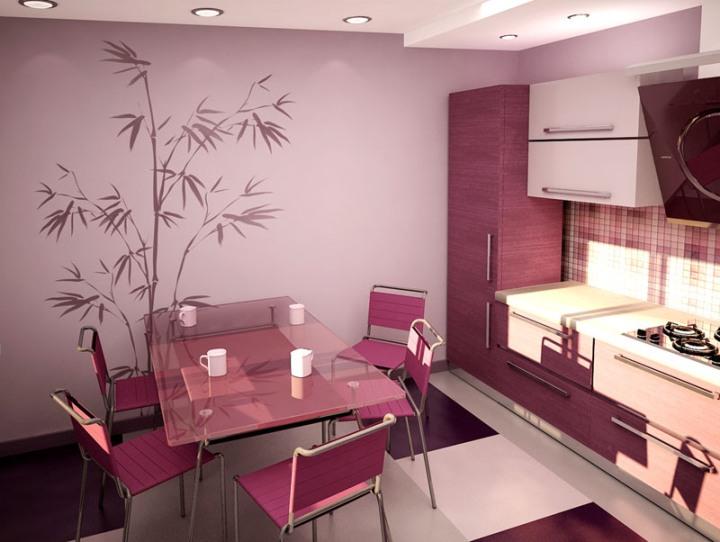 Декор виниловой наклейкой в интерьере кухни