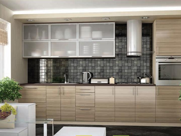 Полосатая кухня зебрано