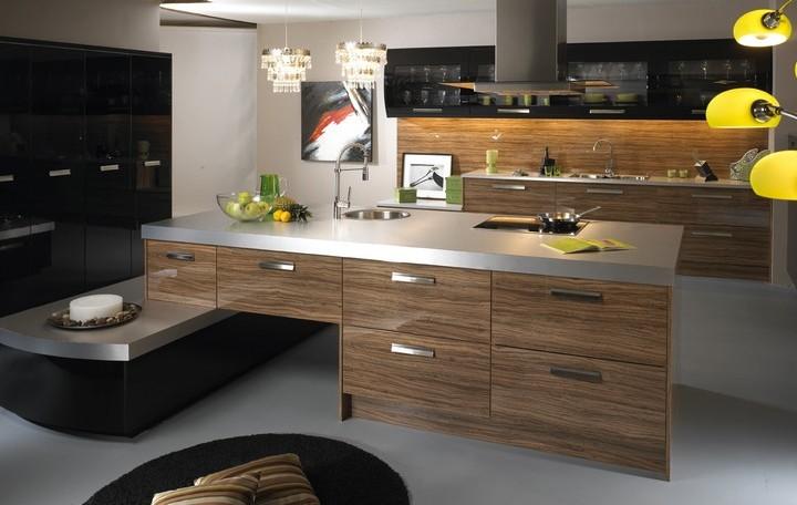 Современная кухня зебрано