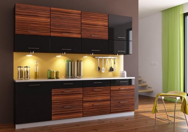 Черно-полосатая кухня зебрано