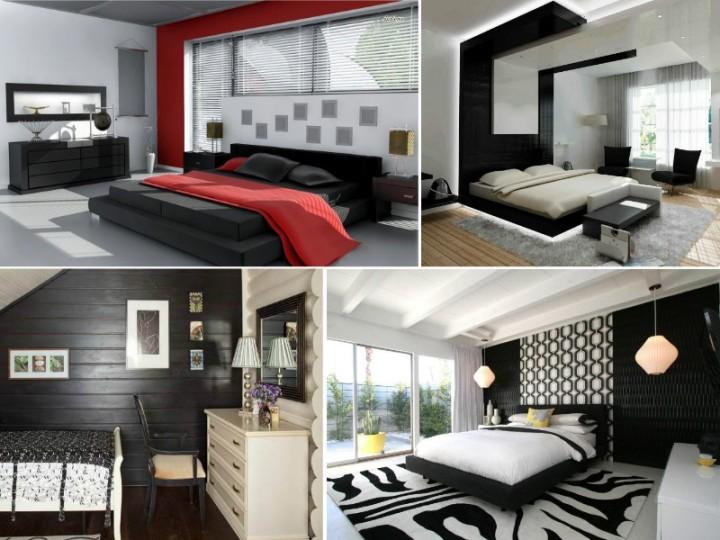 Фото черно-белых спален