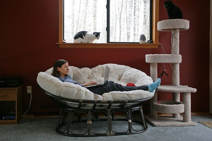 Удобное место для отдыха из ротанга