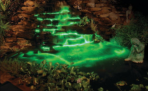 Светодиодная подсветка фонтана