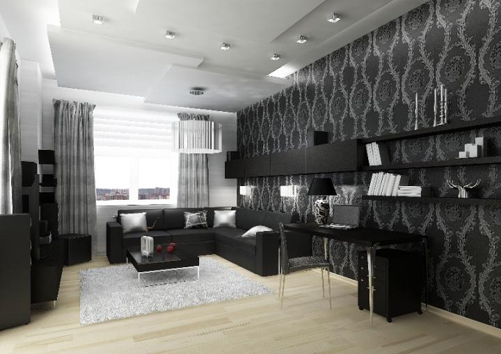 Черная мебель в интерьере
