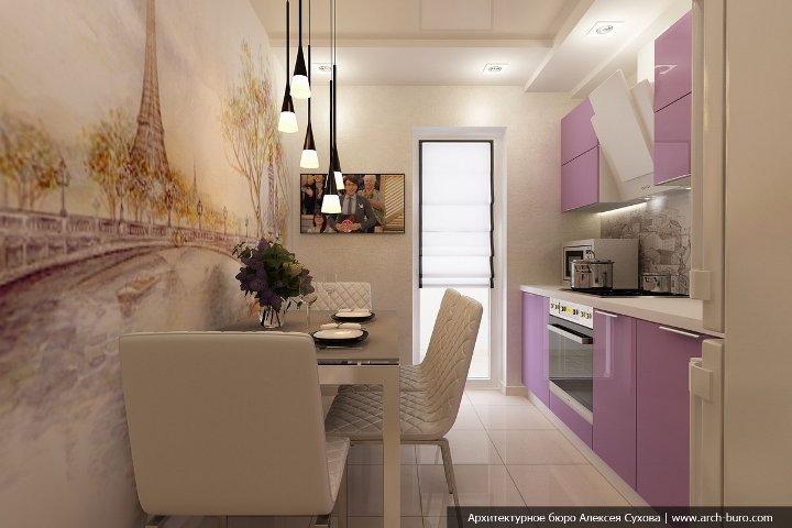 Узкая кухня 7 кв.м дизайн