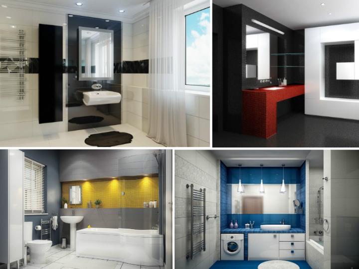 Идеи для ванной в стиле хай-тек