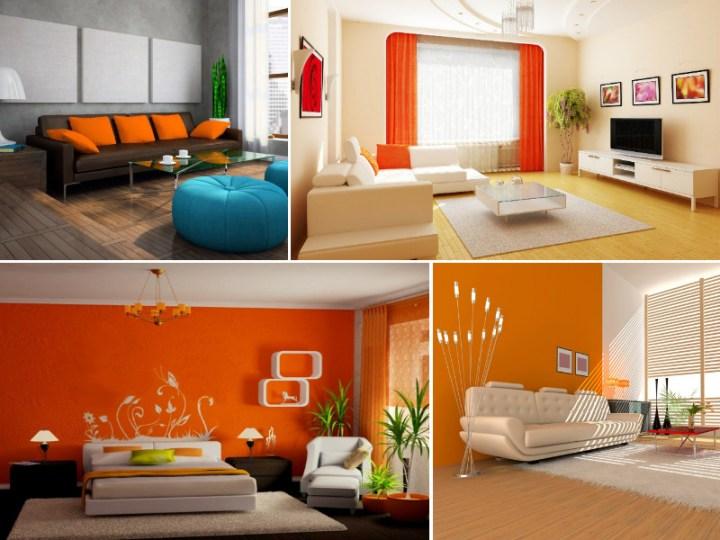 Идеи для оформления интерьера оранжевым цветом