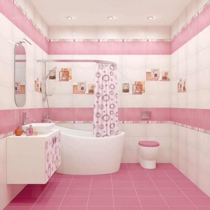 Освещение ванной комнаты: потолок и около зеркала