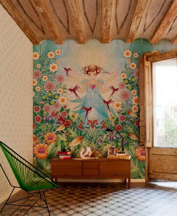 Какой краской рисовать на стене своими руками