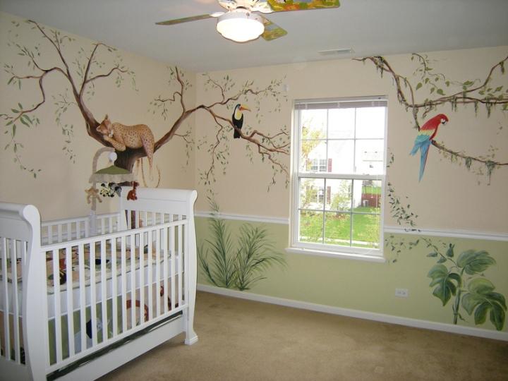 Как расписать стены в детском саду