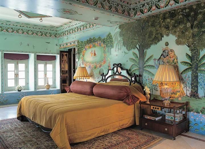 Декор стен в индийском стиле