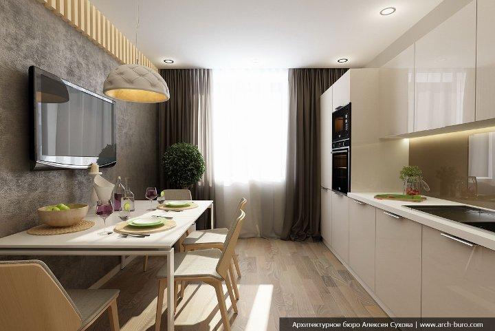 Симпатичная кухня 9 кв. м