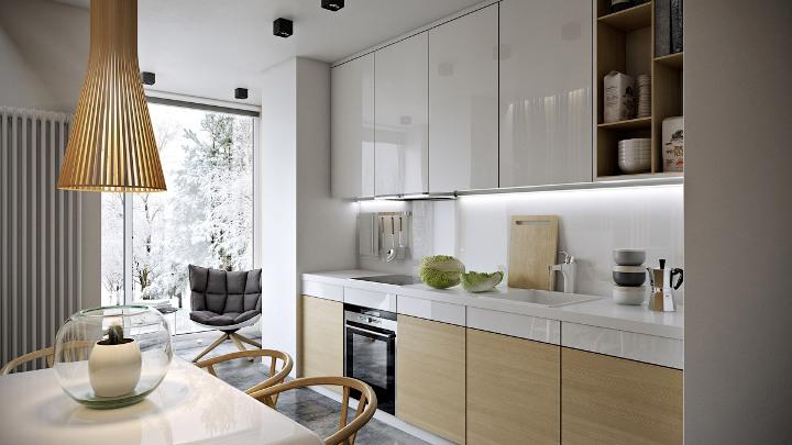 Современное оформление кухни 9 метров квадратных