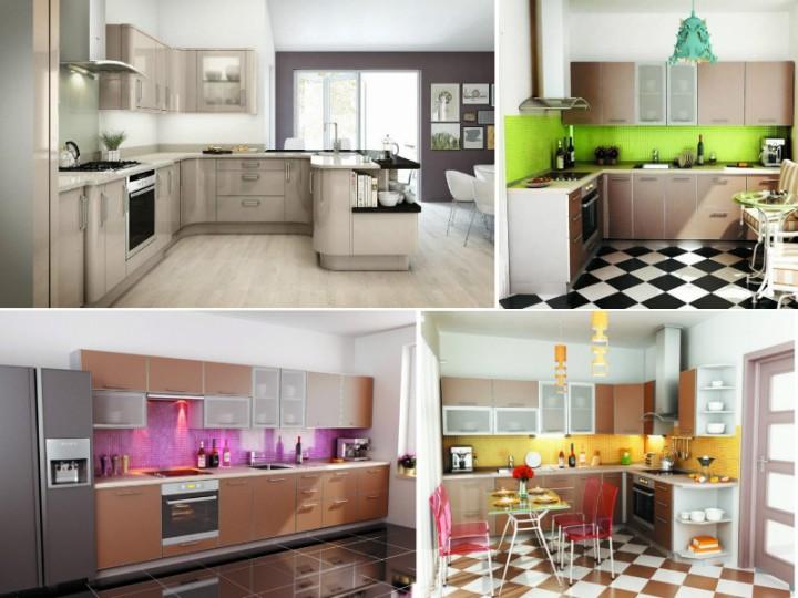 Фото кухонь цвета капучино