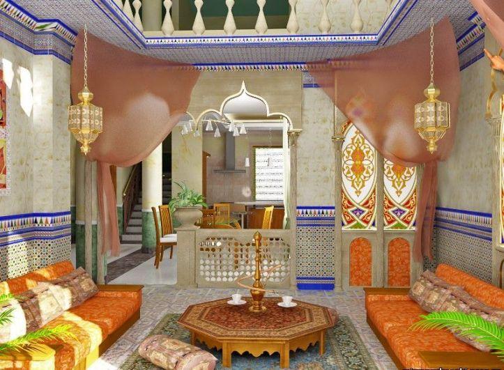 Колоритная гостиная в индийском стиле