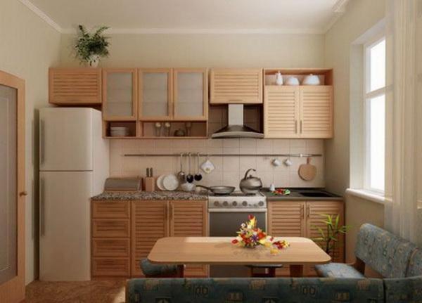 Дизайн кухни 9 метров с балконом фото