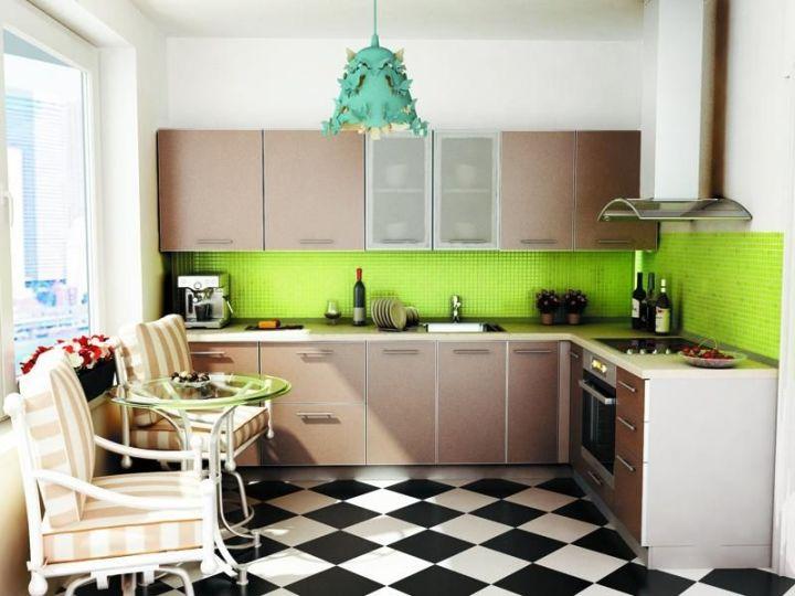 Современная кухня цвета капучино