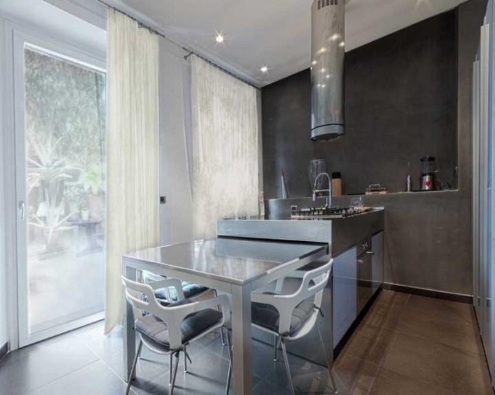 Кухня с островом 9 кв. м