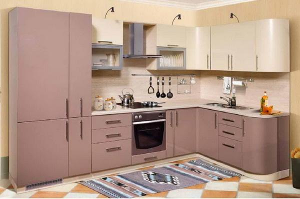 кухня цвет капучино глянец фото