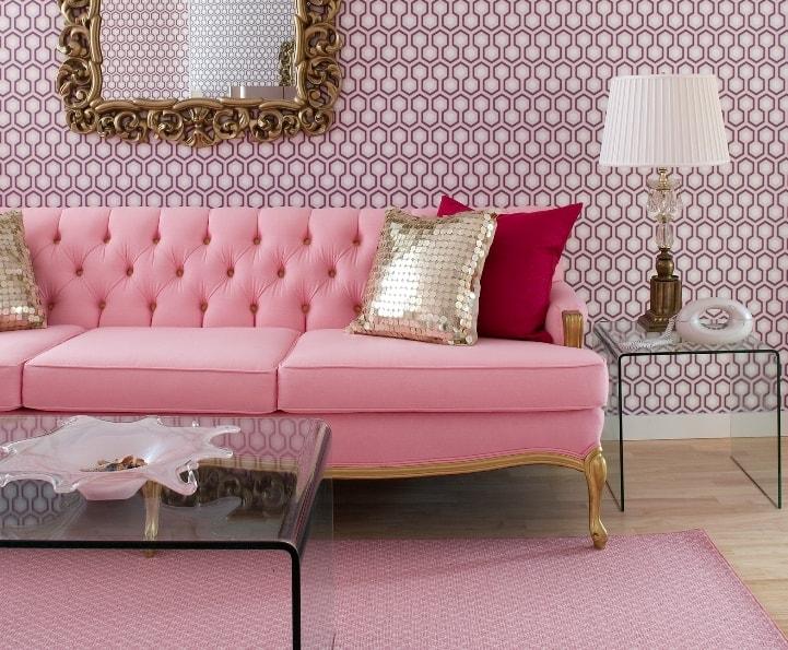 Гламурный розовый диванчик