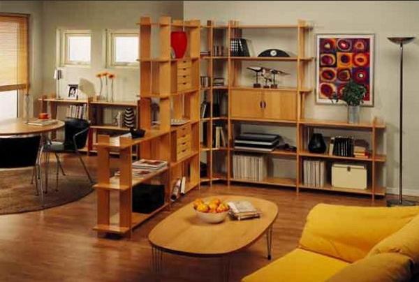 Зонирование однокомнатной квартиры с помощью мебели
