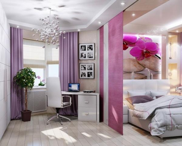 Идея зонирования однокомнатной квартиры