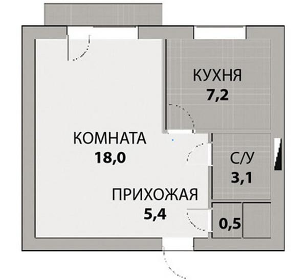 Идеи зонирования однокомнатной квартиры: фото