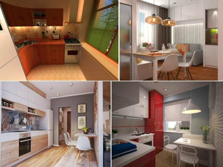 Фото кухни в 1-комнатной