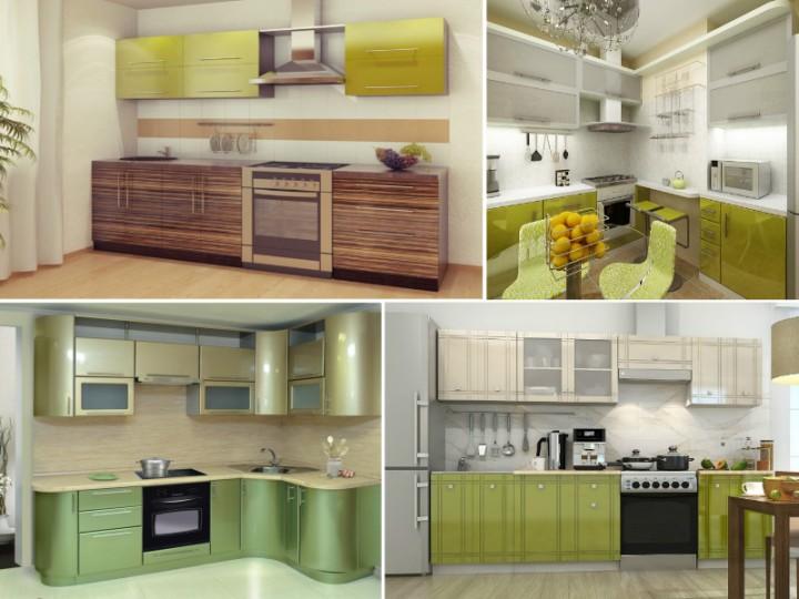 Фото кухонь оливкового цвета