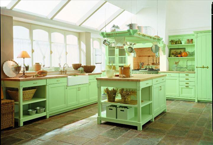 Интерьер фисташковой кухни
