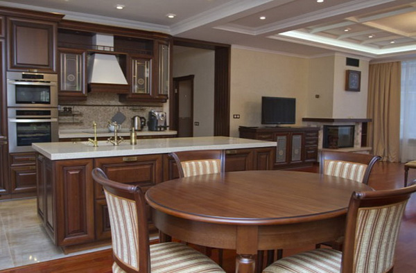 Кухня столовая интерьер фото в доме