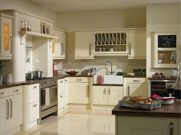 Дизайн кухни зебрано и ваниль