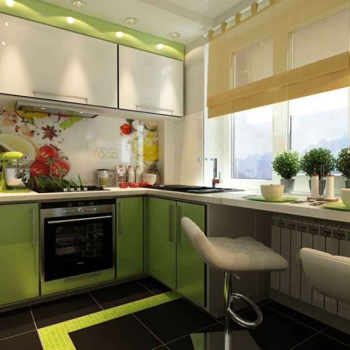 Маленькая оливковая кухня
