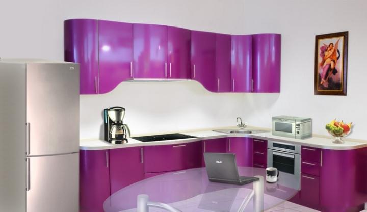 Красивый цвет кухни металлик