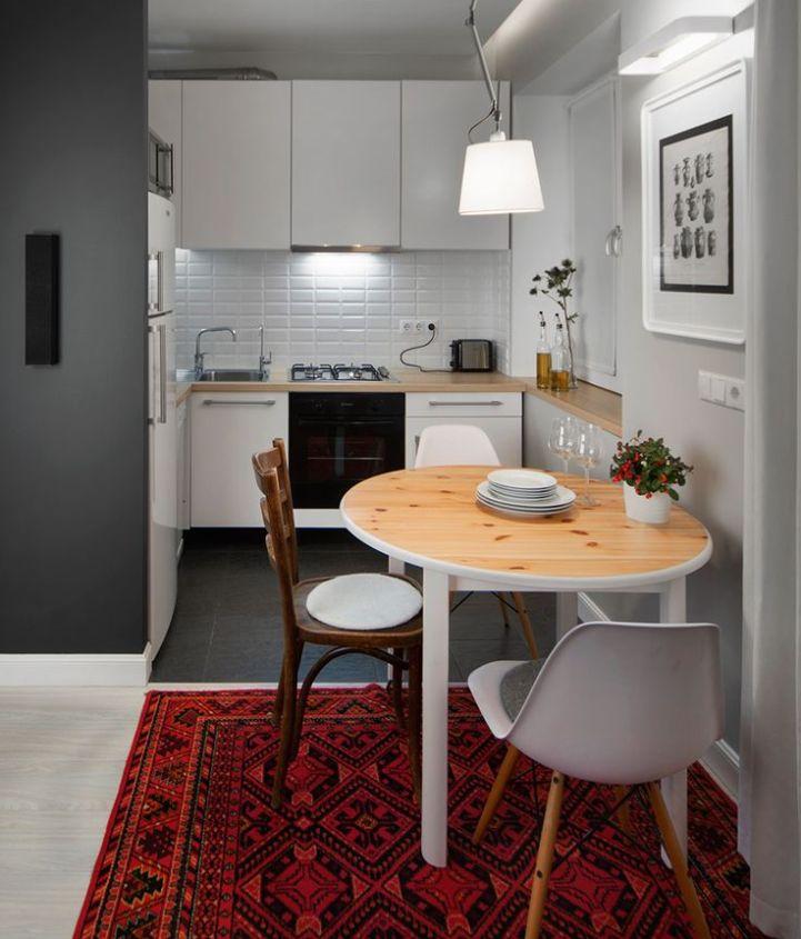 Дизайн кухни в однокомнатной квартире: фото, советы