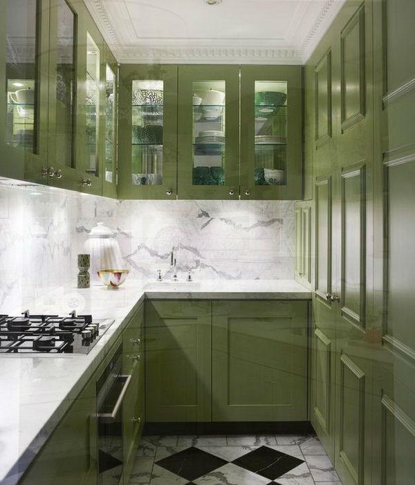 Кухни дизайн фото цвет оливковый