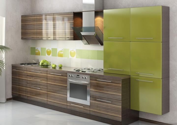 Оливковая кухня зебрано