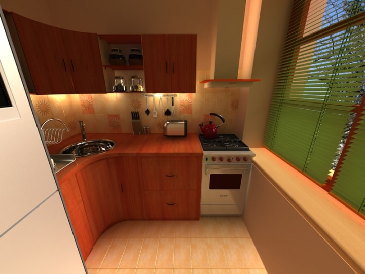 Подсветка в маленькой кухне