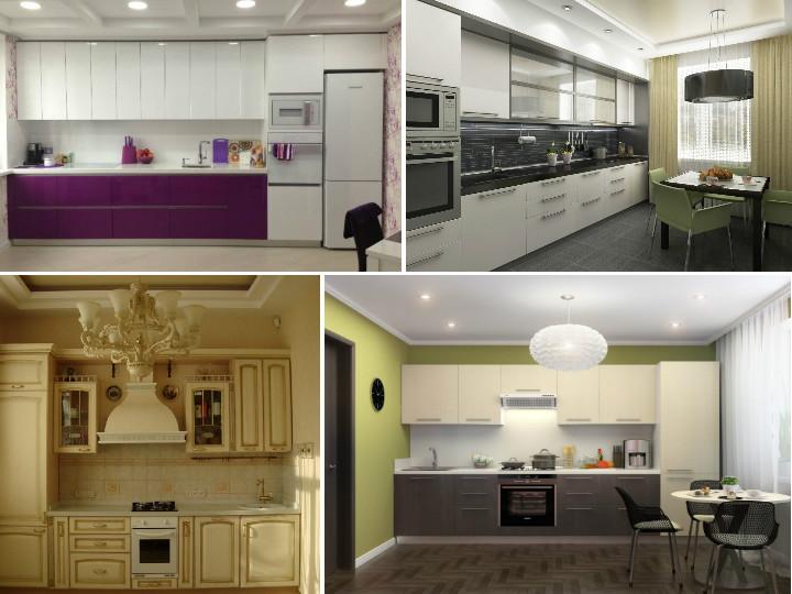 Дизайн кухни по прямой