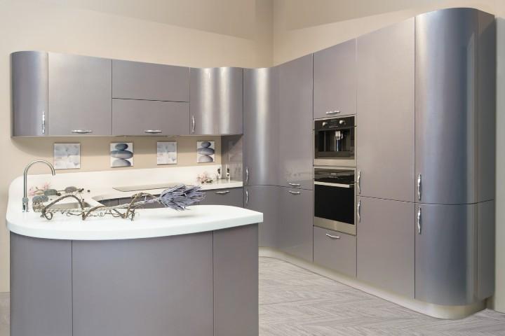 Кухня серый металлик