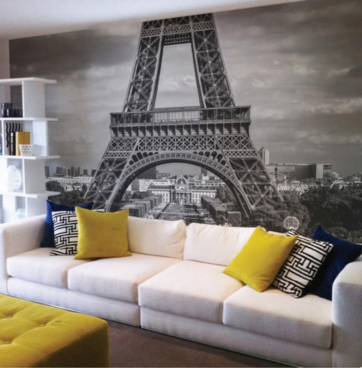 Декор стен в квартире фотообоями