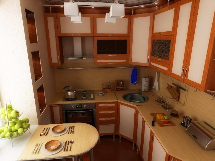 Небольшая удобная кухня