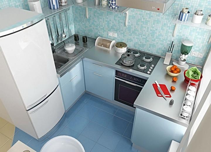 Маленькая кухня: вид сверху