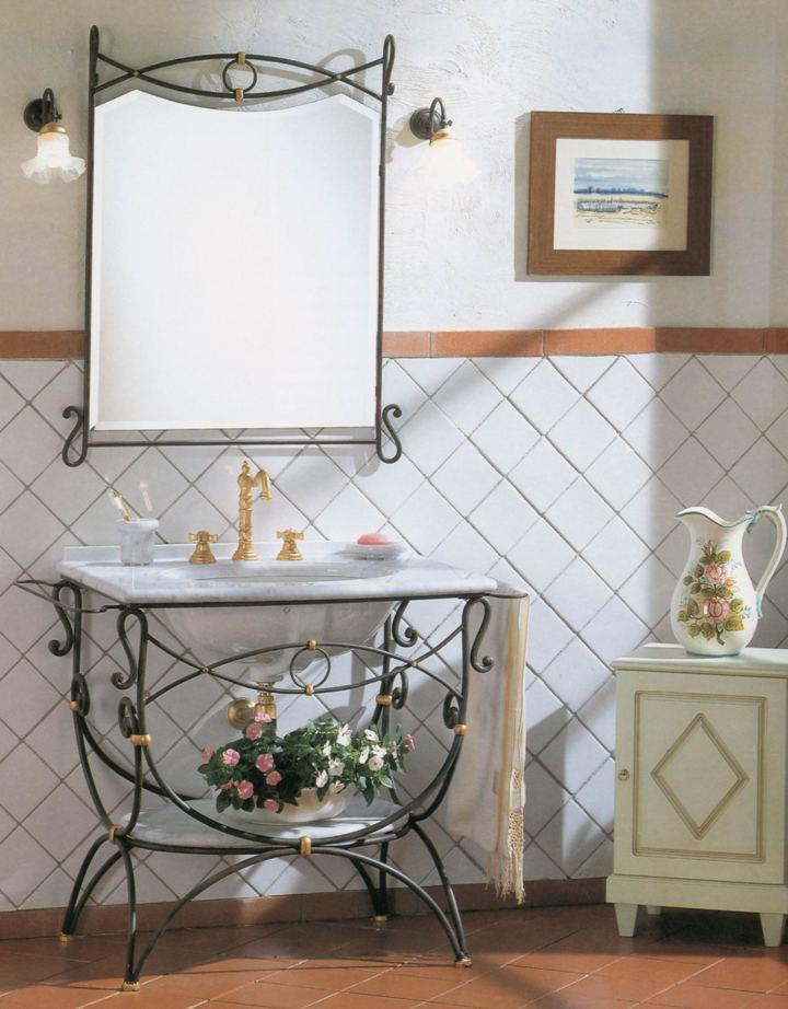 Мебель для ванной из металла