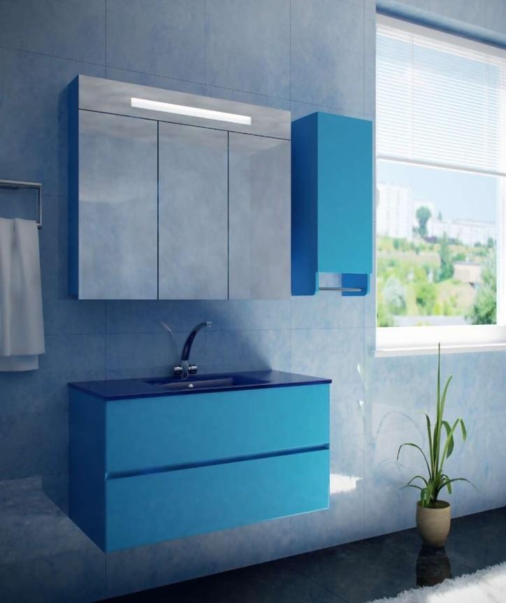 Мебель для ванной из стекла