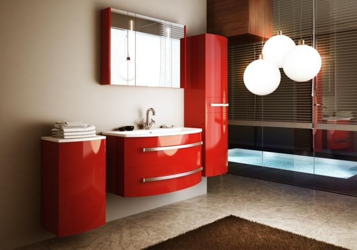 Красивая мебель в ванной комнате