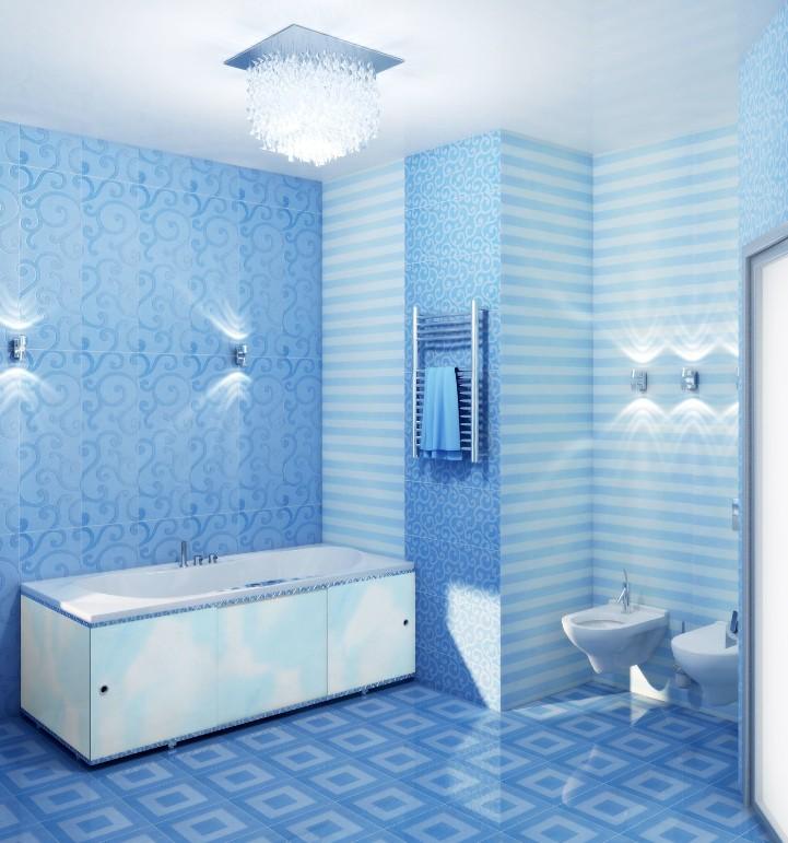 Отделка стен ванной пластиком