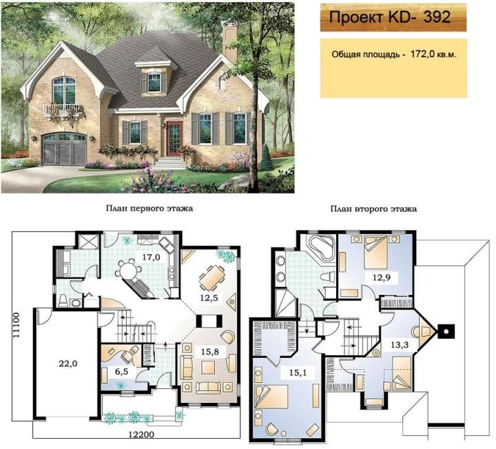 Проект дома 172 кв.м.